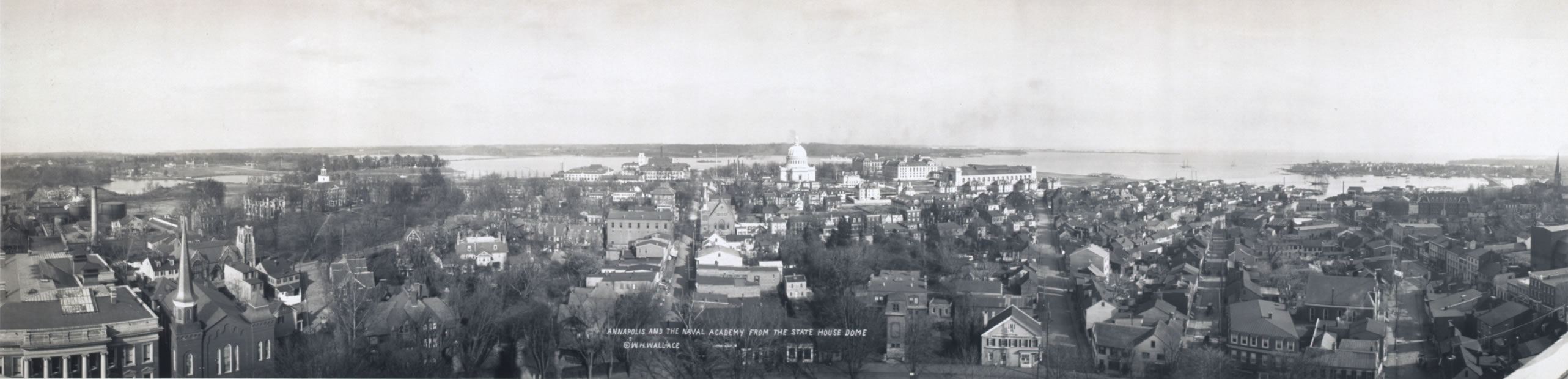 Annapolis panoramic view from State House 1911